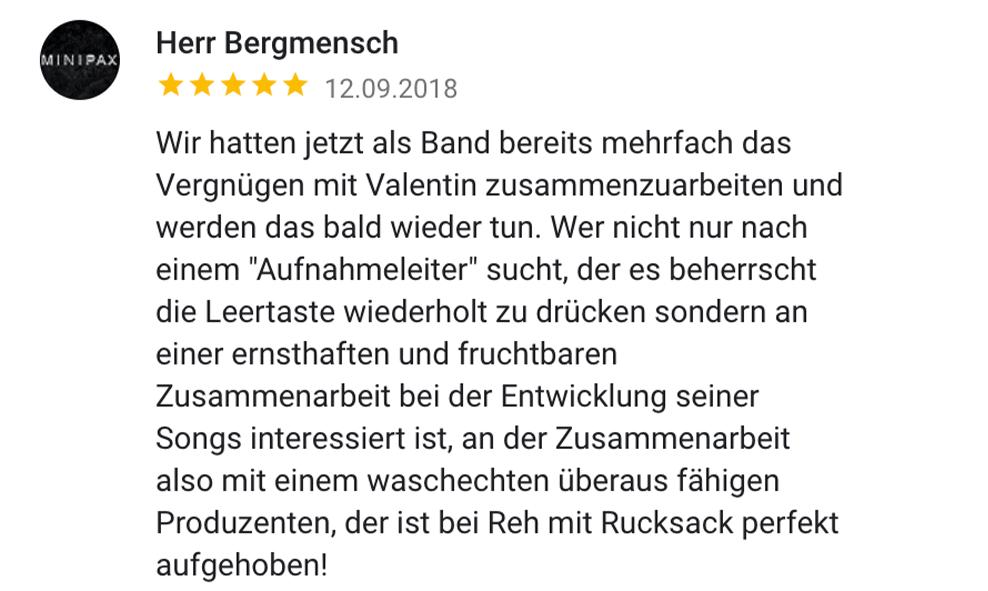 Reh Mit Rucksack Rezension